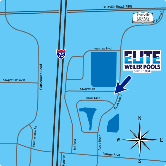 Elite-Weiler Pools Map